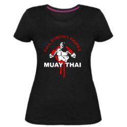 Женская стрейчевая футболка Muay Thai Full Contact