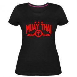 Женская стрейчевая футболка Muay Thai Hard Body - FatLine