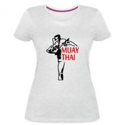 Жіноча стрейчева футболка Muay Thai kick