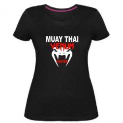 Женская стрейчевая футболка Muay Thai Venum Fighter