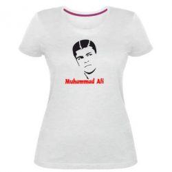 Женская стрейчевая футболка Muhammad Ali
