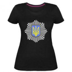 Жіноча стрейчева футболка МВС України