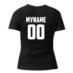 Жіноча стрейчева футболка My name American