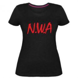 Женская стрейчевая футболка N.W.A Logo