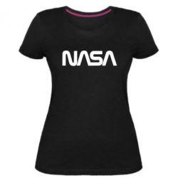 Жіноча стрейчева футболка NASA logo