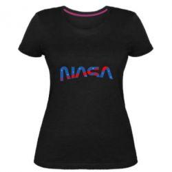 Жіноча стрейчева футболка Nasa semicircle