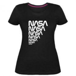 Женская стрейчевая футболка NASA