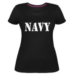 Жіноча стрейчева футболка NAVY