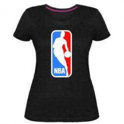 Женская стрейчевая футболка NBA - FatLine