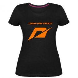 Женская стрейчевая футболка Need For Speed Logo