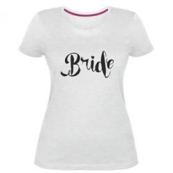 Женская стрейчевая футболка Невеста