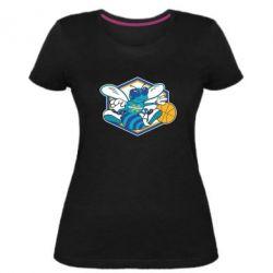 Женская стрейчевая футболка New Orleans Hornets Logo - FatLine