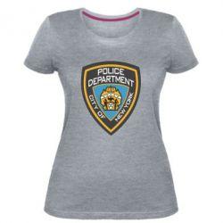Жіноча стрейчева футболка New York Police Department