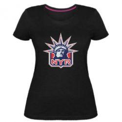 Женская стрейчевая футболка New York Rangers - FatLine
