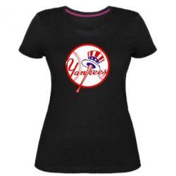 Жіноча стрейчева футболка New York Yankees
