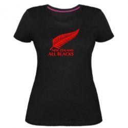 Жіноча стрейчева футболка new zealand all blacks