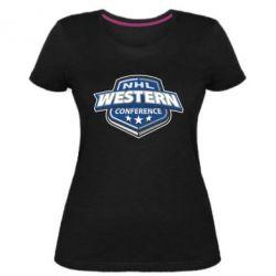 Женская стрейчевая футболка NHL Western Conference - FatLine