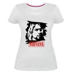 Женская стрейчевая футболка Nirvana Kurt Cobian