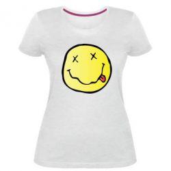 Жіноча стрейчева футболка Nirvana Logo 3D