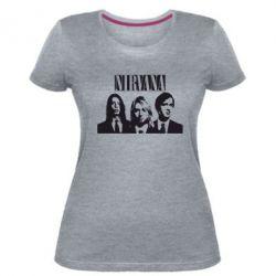 Женская стрейчевая футболка Nirvana (Нирвана)