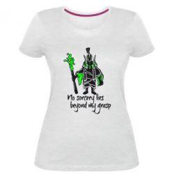 Женская стрейчевая футболка no sorcery lies beyond my grasp - FatLine