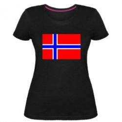 Жіноча стрейчева футболка Норвегія