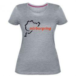 Женская стрейчевая футболка Nurburgring