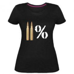 Жіноча стрейчева футболка Одинадцять відсотків