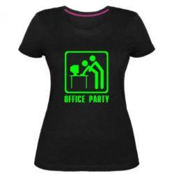 Женская стрейчевая футболка Office Party