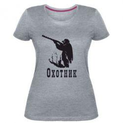 Женская стрейчевая футболка Охотник