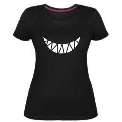 Жіноча стрейчева футболка Охра