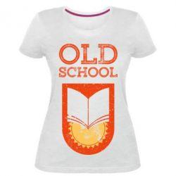 Жіноча стрейчева футболка Old school
