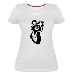 Жіноча стрейчева футболка Олімпійський Ведмедик