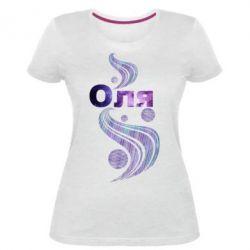 Женская стрейчевая футболка Оля