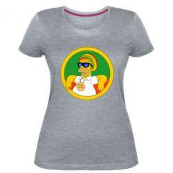 Жіноча стрейчева футболка One love