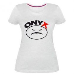 Жіноча стрейчева футболка Онікс