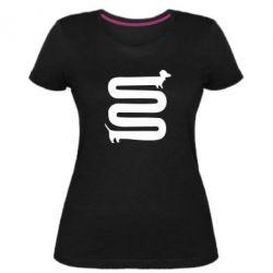 Женская стрейчевая футболка оооочень длинная такса