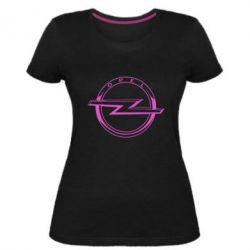 Жіноча стрейчева футболка Opel logo