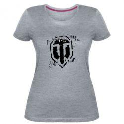 Жіноча стрейчева футболка Відбиток гусениць WOT