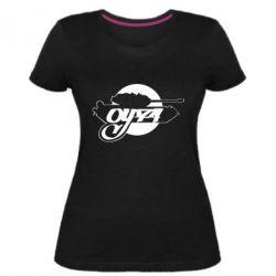 Женская стрейчевая футболка Оу-74 Tankograd