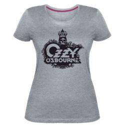 Женская стрейчевая футболка Оззи Озборн