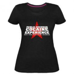 Женская стрейчевая футболка Pablo Escobar