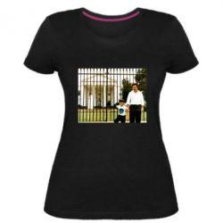 Жіноча стрейчева футболка Пабло Ескобар