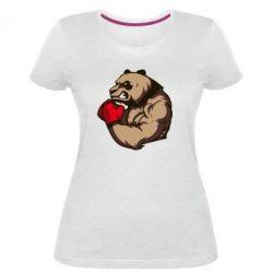 Женская стрейчевая футболка Panda Boxing