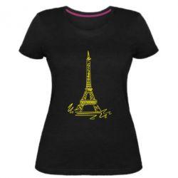Женская стрейчевая футболка Paris