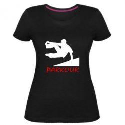 Женская стрейчевая футболка Parkour Run