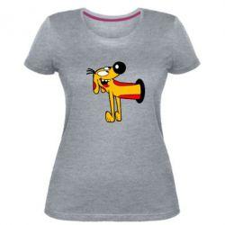 Женская стрейчевая футболка Пес