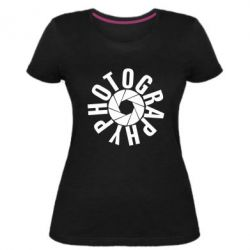 Женская стрейчевая футболка Photography
