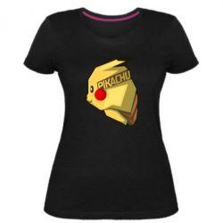 Жіноча стрейчева футболка Pikachu