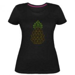 Жіноча стрейчева футболка Pineapple cat